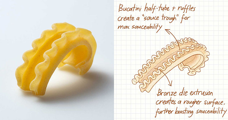 Someone Invented a New Pasta Shape with a Hilarious Amount of Food Science Behind It