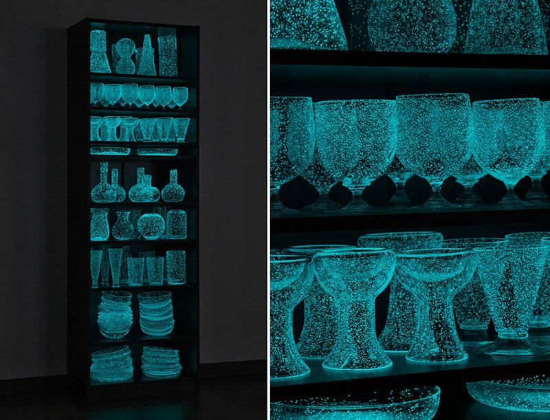 phosphorescent glass sculptures by rui sasaki 10 Phosphorescent Glass Sculptures Illuminate in Presence of People