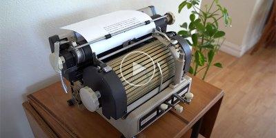 This Vintage Japanese Typewriter is Fascinating