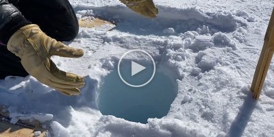 Dropping Ice Down a 450 ft Borehole Makes a Pretty Wild Sound