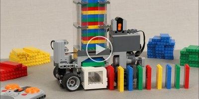 This Remote Controlled Lego Domino Machine is Pretty Creative