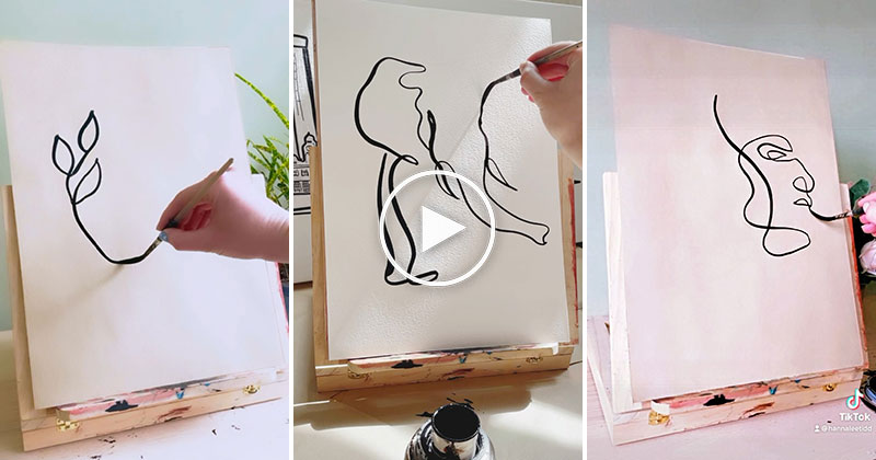 These Single Brushstroke Paintings are So Soothing to Watch