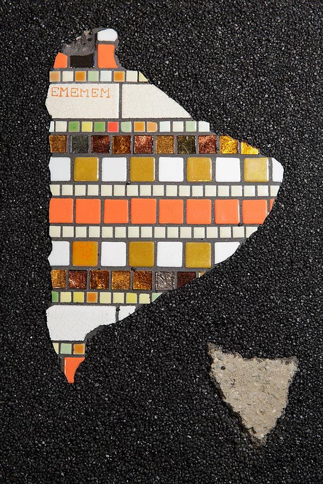 pavement surgeon ememem mosaic tile streets france 1 The Pavement Surgeon Beautifying the Damaged Sidewalks of France
