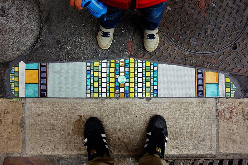 pavement surgeon ememem mosaic tile streets france 20 The Pavement Surgeon Beautifying the Damaged Sidewalks of France