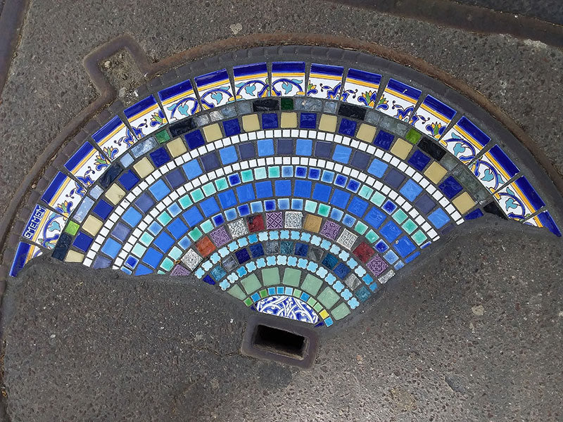pavement surgeon ememem mosaic tile streets france 22 The Pavement Surgeon Beautifying the Damaged Sidewalks of France