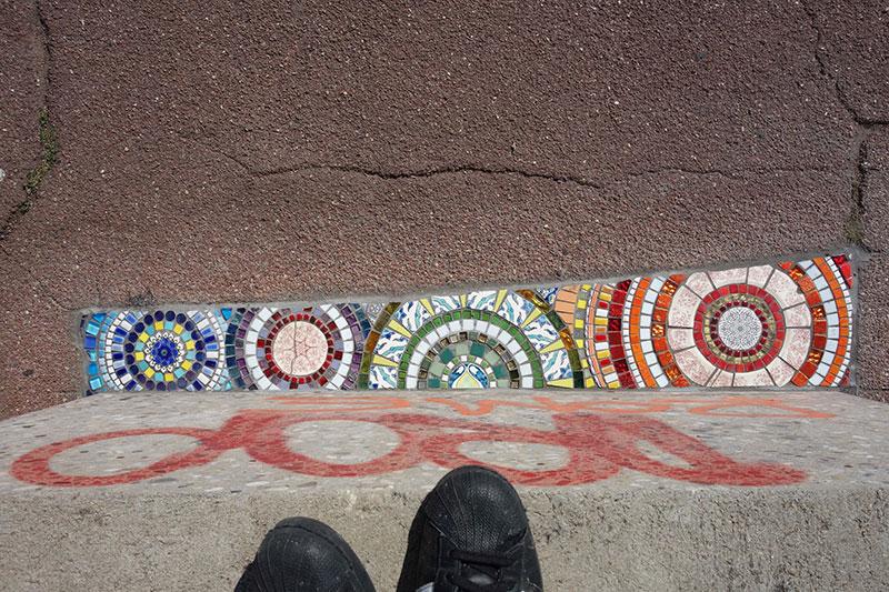 pavement surgeon ememem mosaic tile streets france 23 The Pavement Surgeon Beautifying the Damaged Sidewalks of France