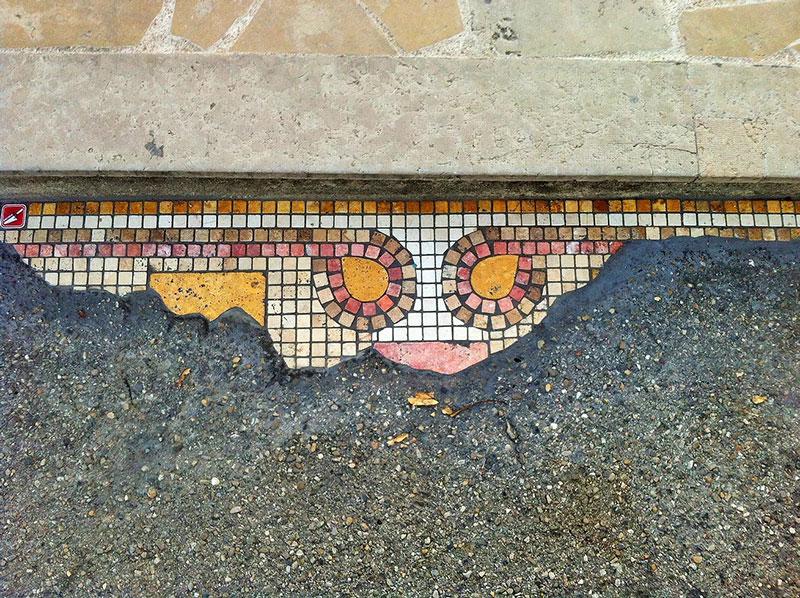 pavement surgeon ememem mosaic tile streets france 4 The Pavement Surgeon Beautifying the Damaged Sidewalks of France