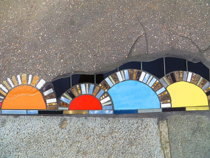 pavement surgeon ememem mosaic tile streets france 8 The Pavement Surgeon Beautifying the Damaged Sidewalks of France