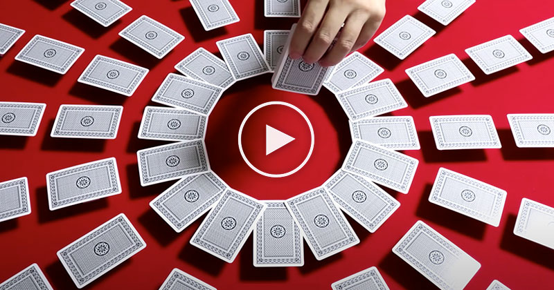 This Stop Motion Card Shuffling is So Mesmerizing
