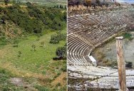 An Amazing Before and After of an Ancient Greek Stadium Excavation