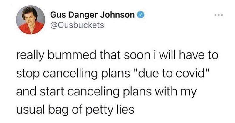 cancel plans covid petty lies tweet The Shirk Report – Volume 634