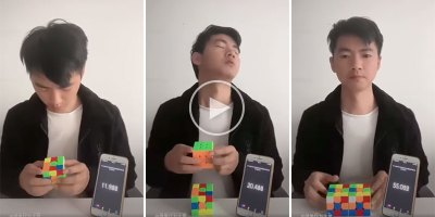 A Different Kind of Rubik's Cube Solve