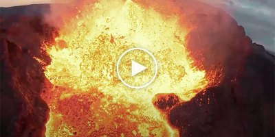 Guy Flies FPV Drone Straight Into an Erupting Volcano and His Goggles Captured It All