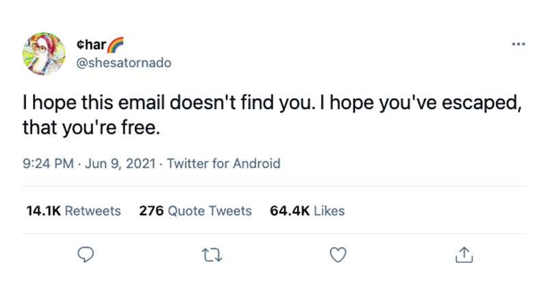 i hope this email doesnt find you tweet The Shirk Report – Volume 635