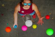 When You See Juggling from Above It Looks Like the Balls are Floating