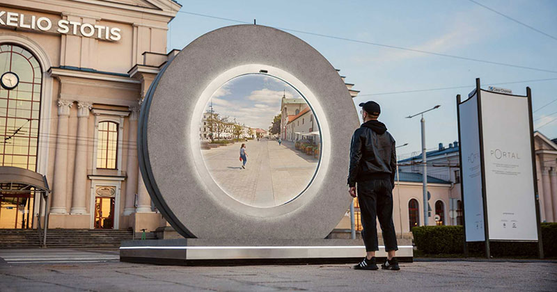 Portals Erected in Lithuania and Poland Let People See Each Other in Real Time