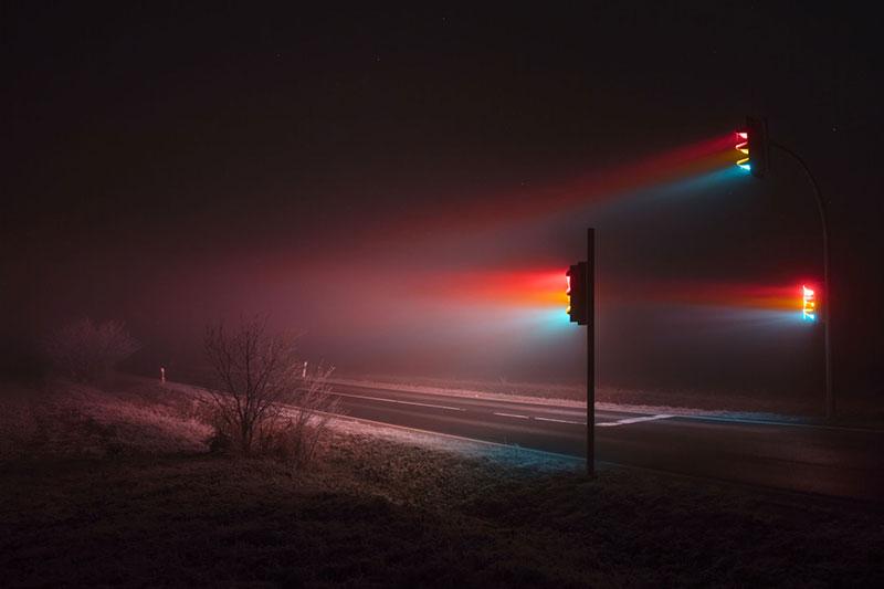 traffic lights at night by lucas zimmermann 5 Long Exposure Traffic Lights at Night by Lucas Zimmermann (7 Photos)