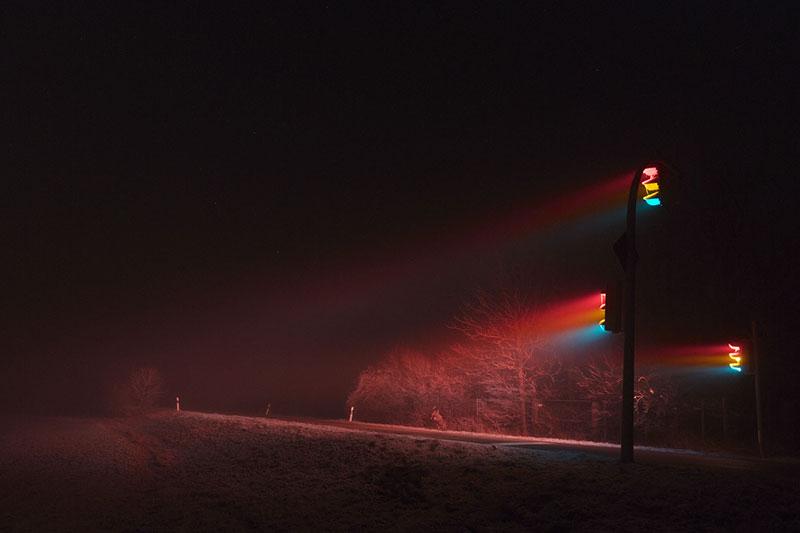 traffic lights at night by lucas zimmermann 7 Long Exposure Traffic Lights at Night by Lucas Zimmermann (7 Photos)