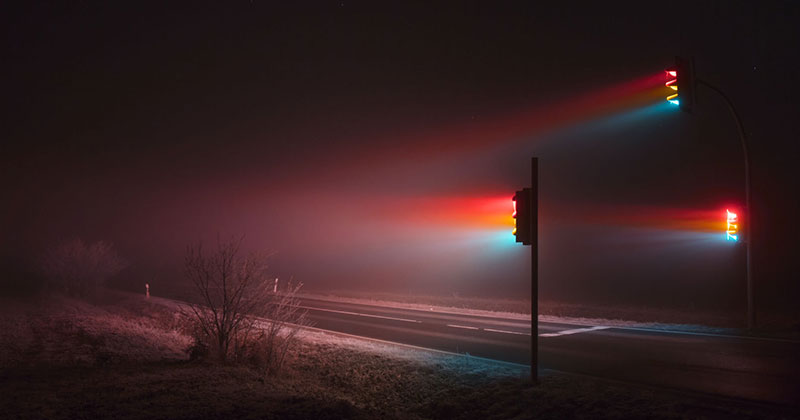 Long Exposure Traffic Lights at Night by Lucas Zimmermann (7 Photos)