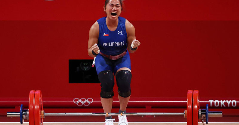 Hidilyn Diaz Ends 100 Year Drought, Wins First-Ever Gold Medal for the Philippines
