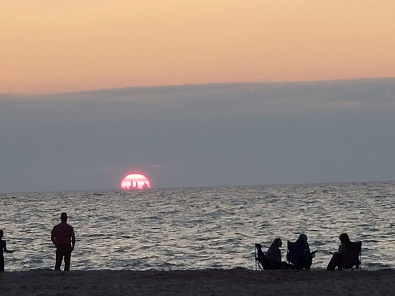 If Conditions are Right You Can See Chicago's Skyline from the Indiana Dunes 50 Miles Away