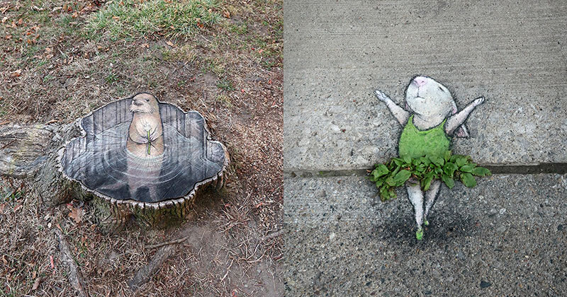 david zinn chalk art ann arbor michigan cover David Zinn Draws Tiny Chalk Art Throughout Ann Arbor and Its the Best