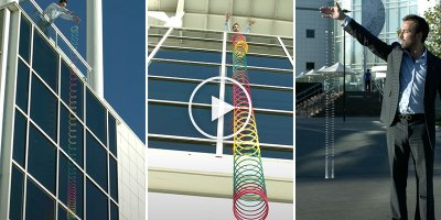 The Weird Way a Stretched Out Slinky Drops to the Ground
