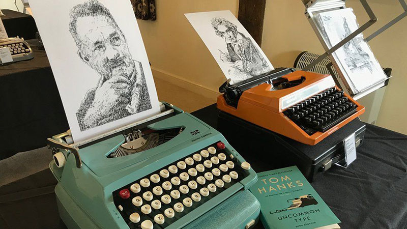 james cook Draws Using Only Letters and Numbers on Old Typewriters 1 This Artist Draws Using Only Letters and Numbers on Old Typewriters