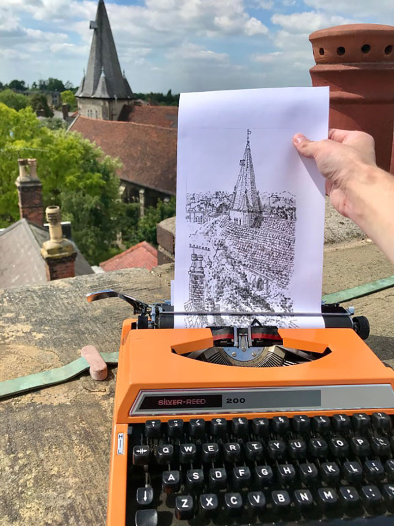 james cook Draws Using Only Letters and Numbers on Old Typewriters 11 This Artist Draws Using Only Letters and Numbers on Old Typewriters