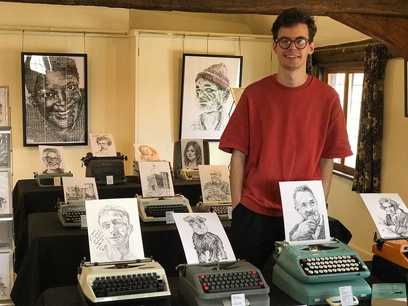 james cook Draws Using Only Letters and Numbers on Old Typewriters 14 This Artist Draws Using Only Letters and Numbers on Old Typewriters