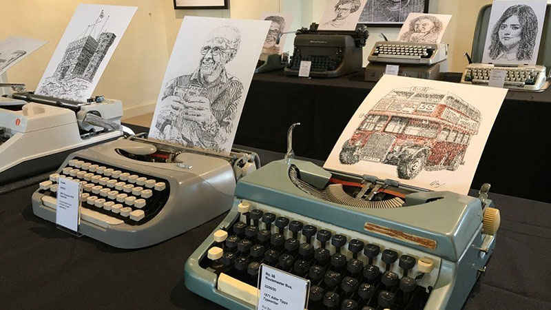 james cook Draws Using Only Letters and Numbers on Old Typewriters 3 This Artist Draws Using Only Letters and Numbers on Old Typewriters