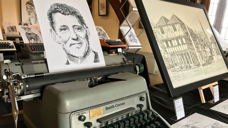 james cook Draws Using Only Letters and Numbers on Old Typewriters 4 This Artist Draws Using Only Letters and Numbers on Old Typewriters