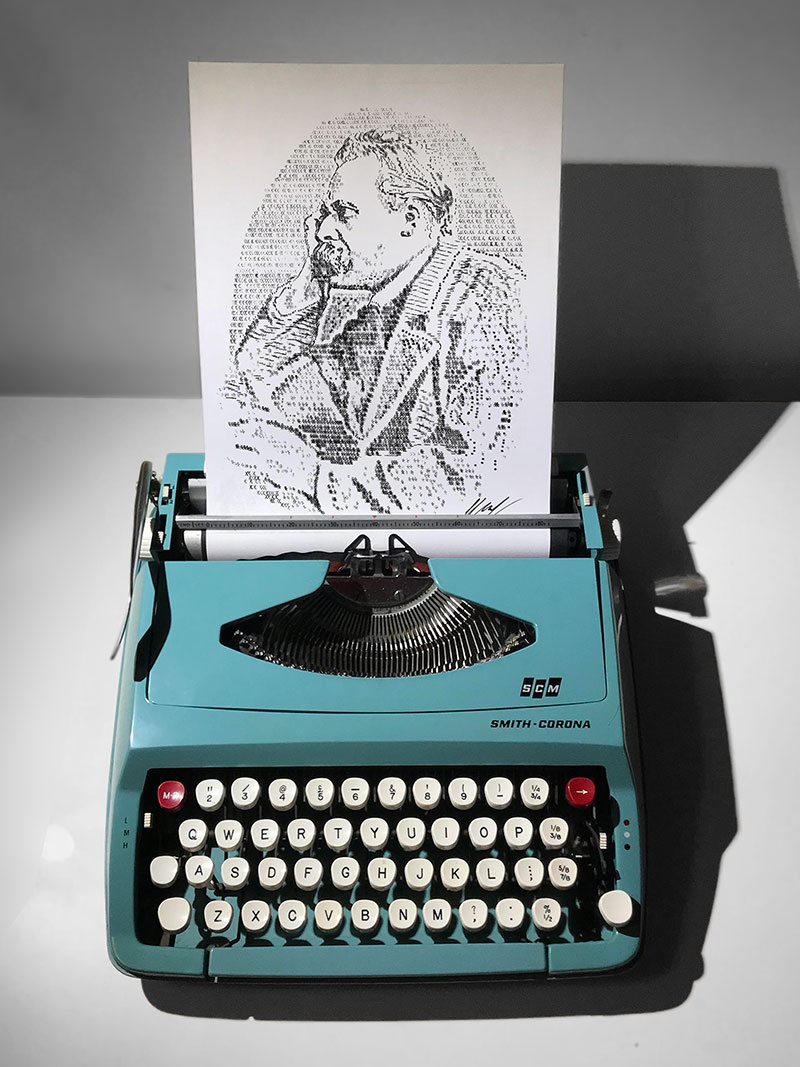 james cook Draws Using Only Letters and Numbers on Old Typewriters 5 This Artist Draws Using Only Letters and Numbers on Old Typewriters