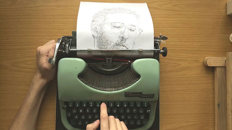 james cook Draws Using Only Letters and Numbers on Old Typewriters 7 This Artist Draws Using Only Letters and Numbers on Old Typewriters
