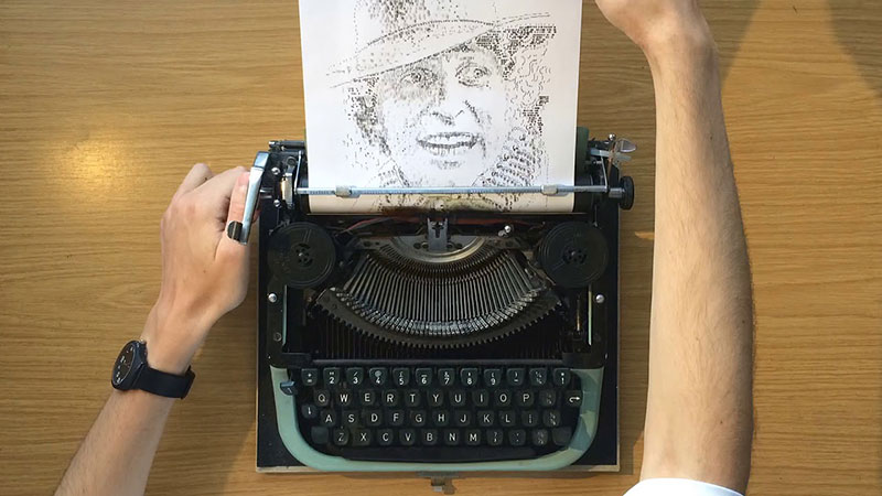 james cook Draws Using Only Letters and Numbers on Old Typewriters 8 This Artist Draws Using Only Letters and Numbers on Old Typewriters