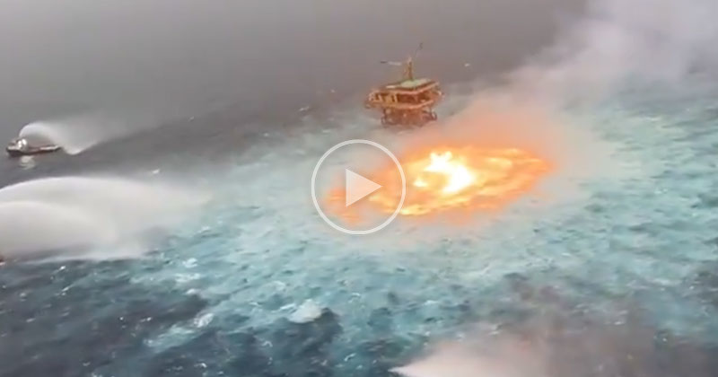 Ruptured Pipeline in Gulf of Mexico Sets Ocean on Fire for 5 Hours