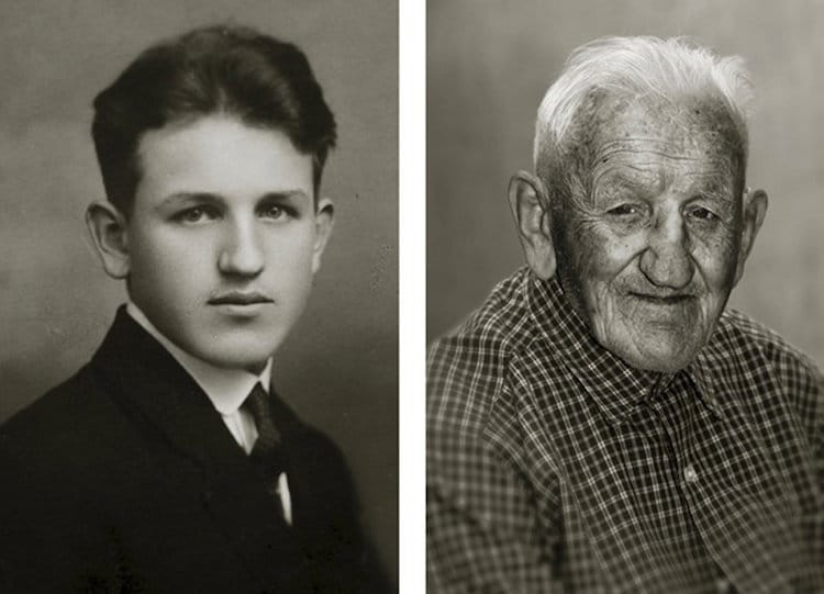 Centenarians Then and Now by Jan Langer (12 Photos)