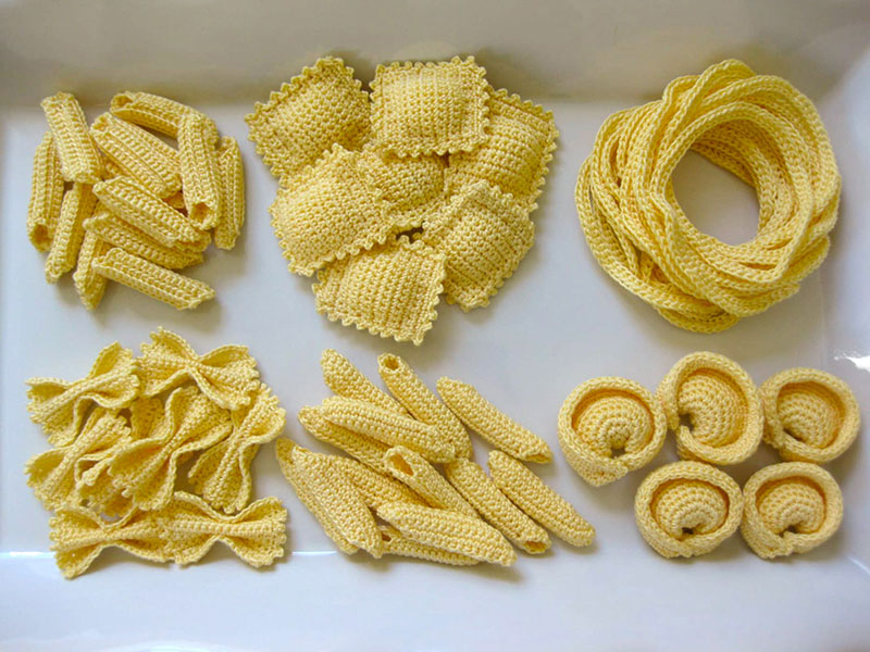 crocehted pasta by Normalynn Ablao Copacetic Crocheter 3 These Crocheted Pasta Dishes are Simply Delightful