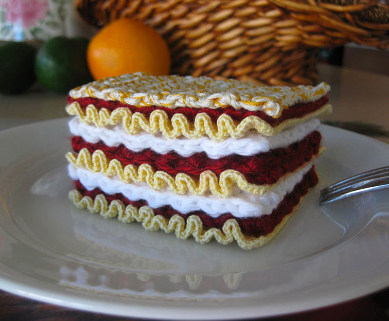 crocehted pasta by Normalynn Ablao Copacetic Crocheter 8 These Crocheted Pasta Dishes are Simply Delightful
