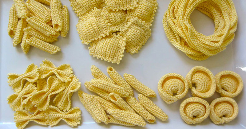 These Crocheted Pasta Dishes are Simply Delightful