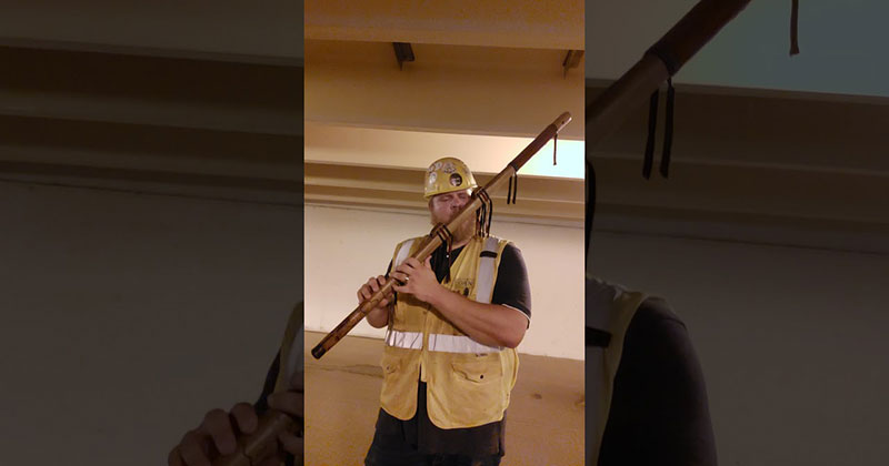 He Found Good Acoustics at Work and Went Full Lord of the Rings