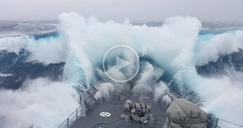 Warship Patrolling for Poachers Gets Smashed by Monster Wave in Antarctica