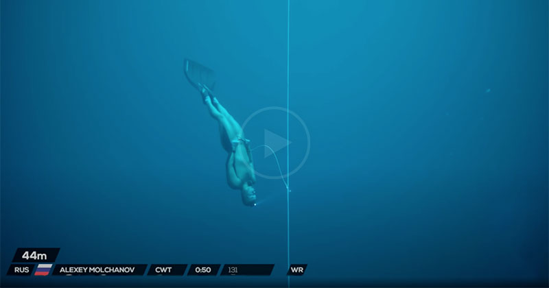 Alexey Molchanov's World Record Freedive is Remarkable