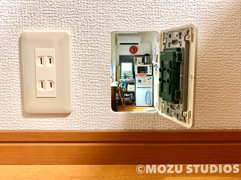mini room inside wall outlet by mozu kiyotaka mizukoshi 2 Leaving this Behind for Future Tenants to Discover
