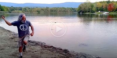 In 2013, Kurt Steiner Set the Stone Skipping World Record with an Amazing 88 Skips