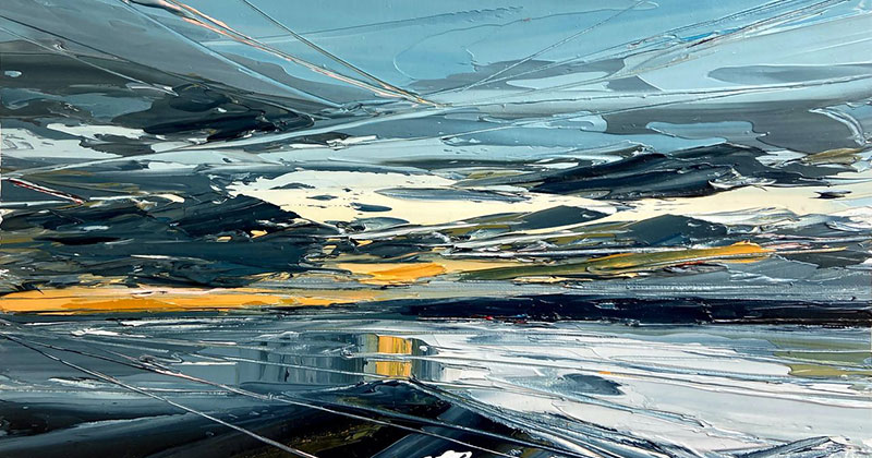 Textured Landscapes: Beautiful Palette Knife Paintings by Georgia Hart
