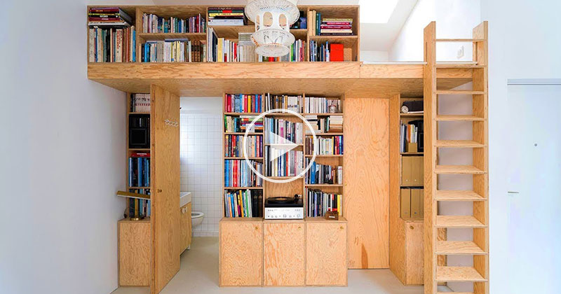 This Architect's 344 sq ft Apartment in Paris is Remarkable