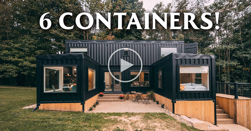 This 6 Container Rental Home Looks Pretty Cool