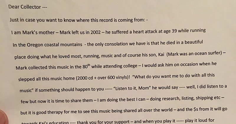 He Bought a Soundgarden Vinyl and Found a Most Unexpected Letter Inside